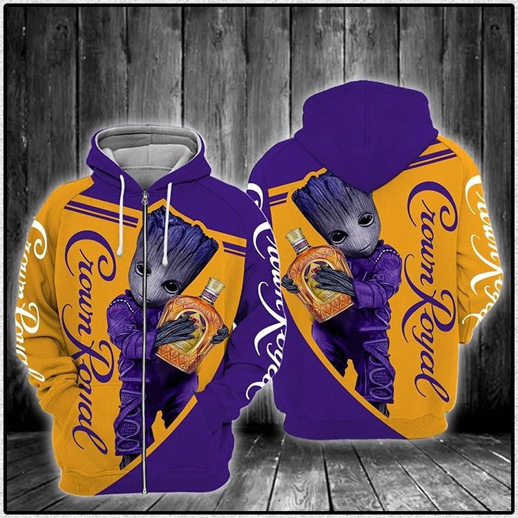 Crown Royal Zipper 3d Hoodie1