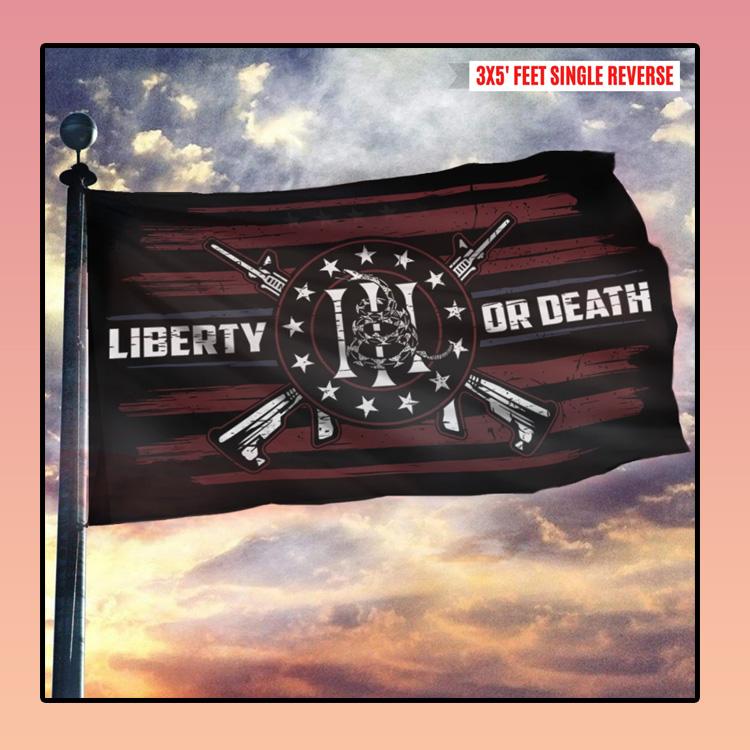 Gadsden Dont Tread On Me Liberty Or Death Flag2 1