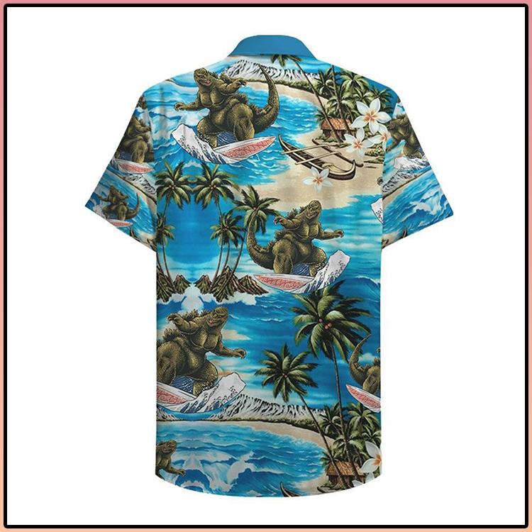Godzilla Surfing Hawaiian Shirt3
