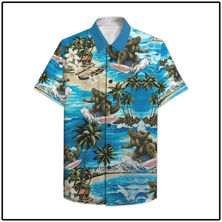 Godzilla Surfing Hawaiian Shirt1