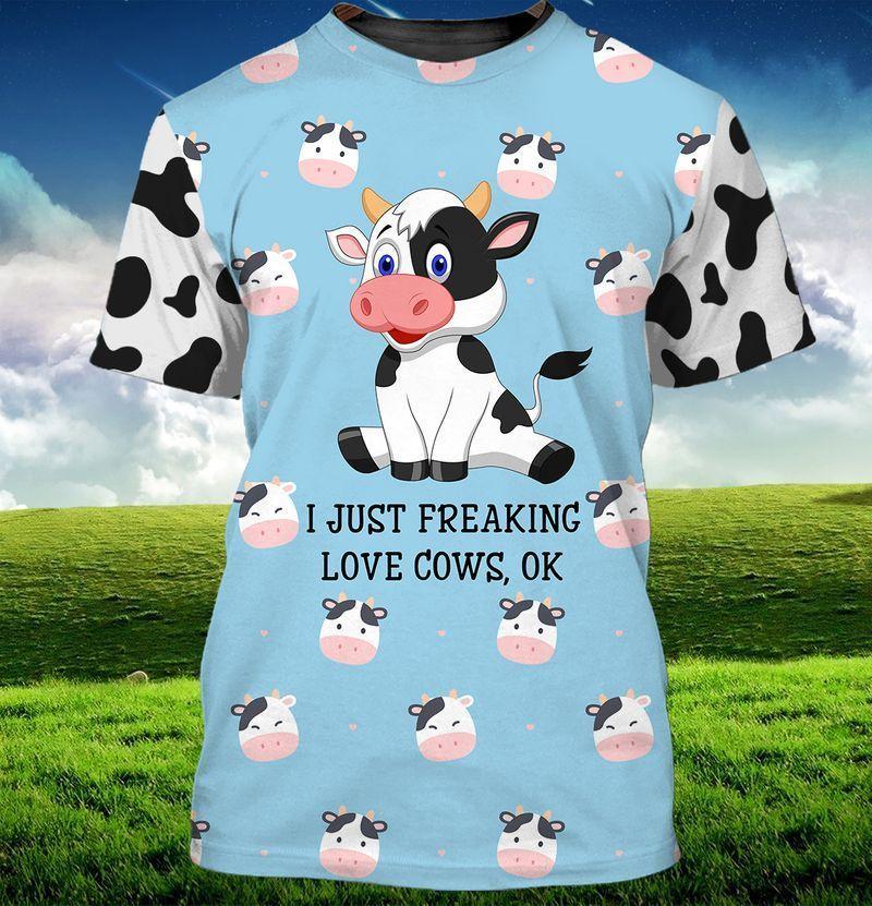 I Just Freaking Love Cows 3d Hoodie TS