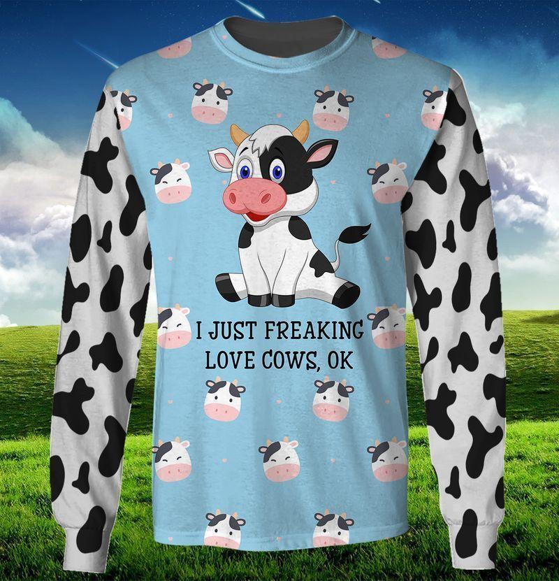 I Just Freaking Love Cows 3d Hoodie SWS