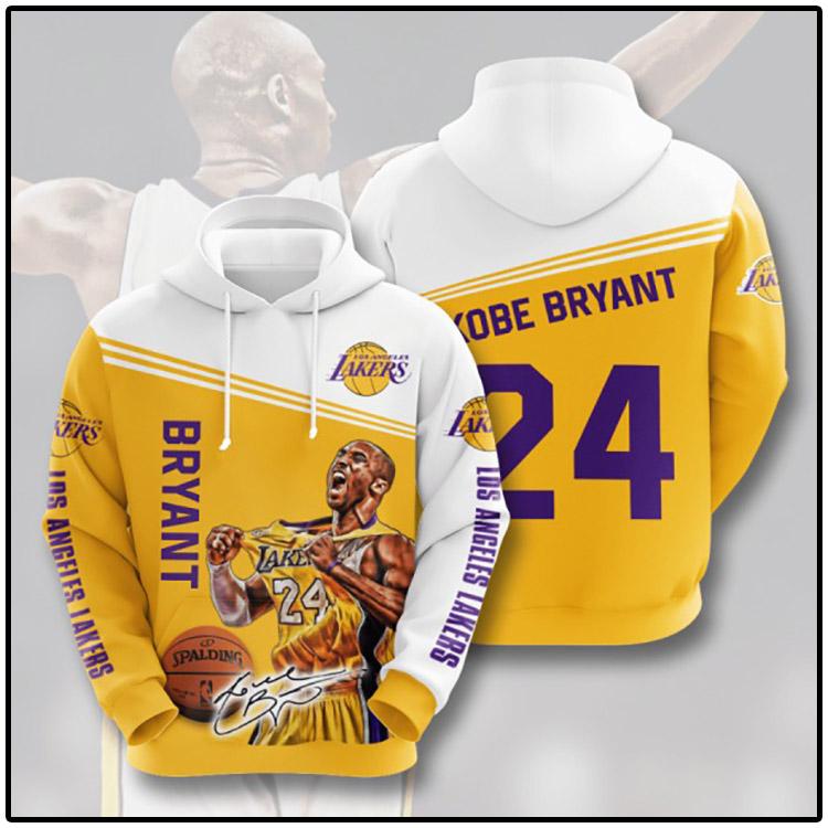 Bryant Los Angeles Lakers 3D Hoodie1