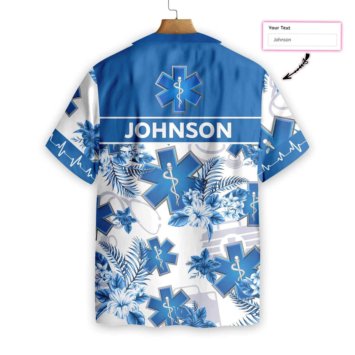 Paramedic Name Custom Hawaiian ShirtB