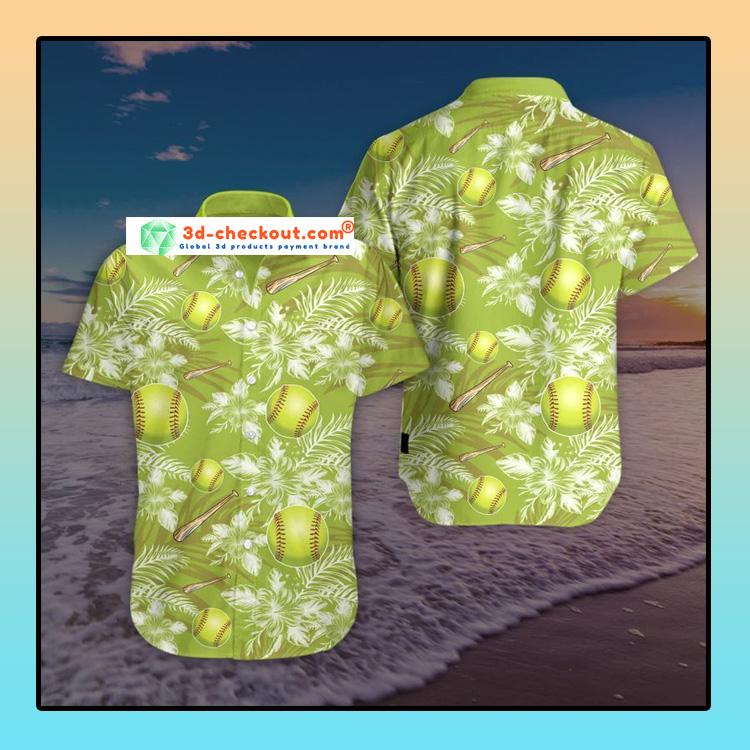 Softball Hawaiian Summer Hawaiian shirt3