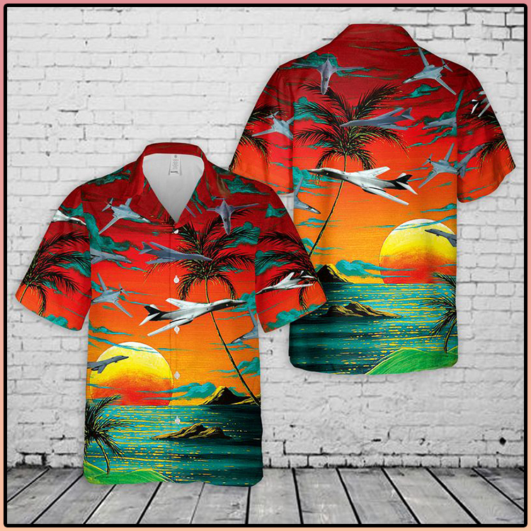 US Air Force Red Rockwell B 1 Lancer Hawaiian and Short2