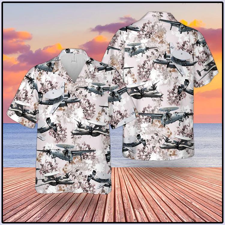 US Navy Northrop Grumman E2 Hawkeye Hawaiian Shirt And Short1