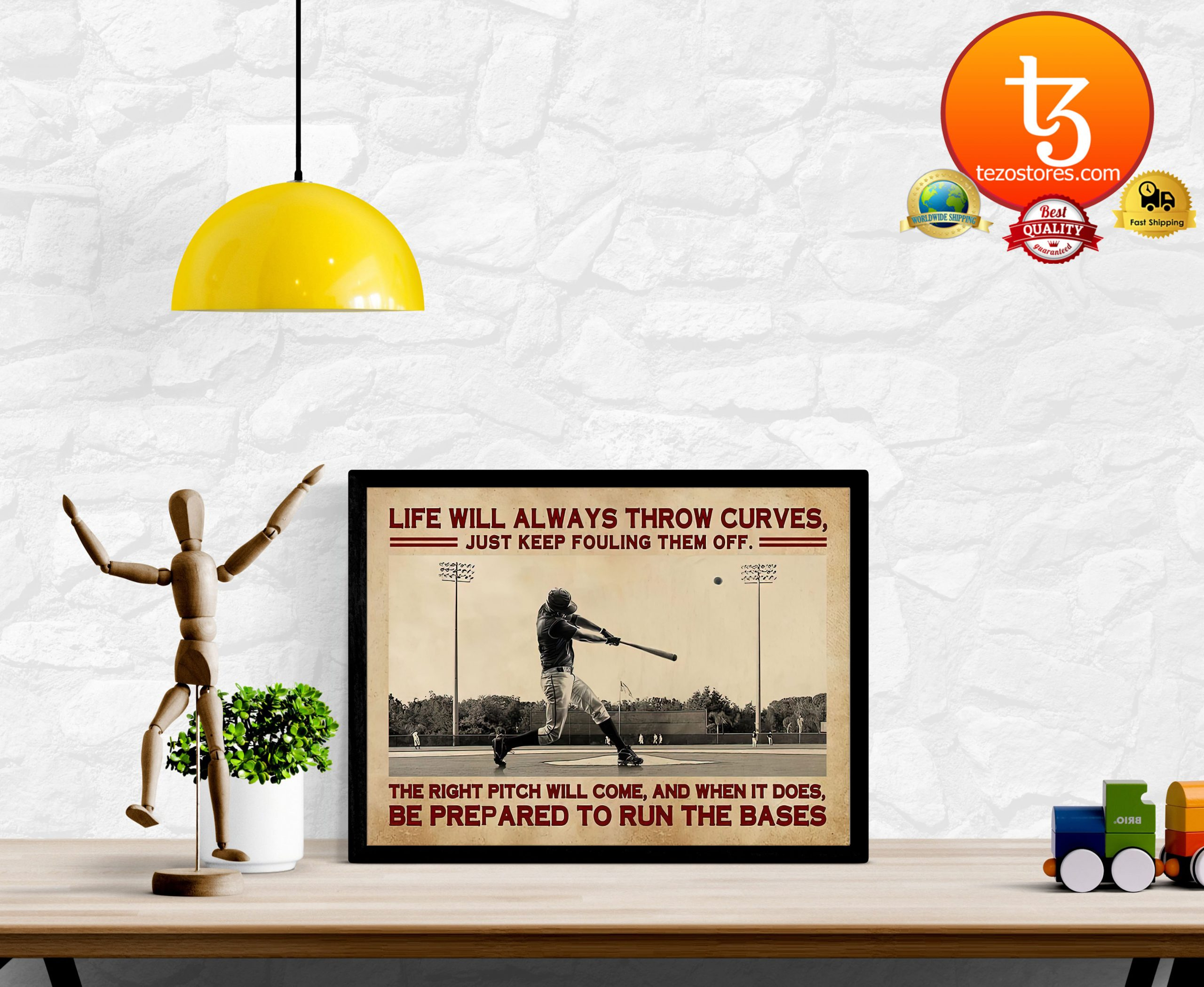 Baseball life will always throw curves just keep fouling them off poster2