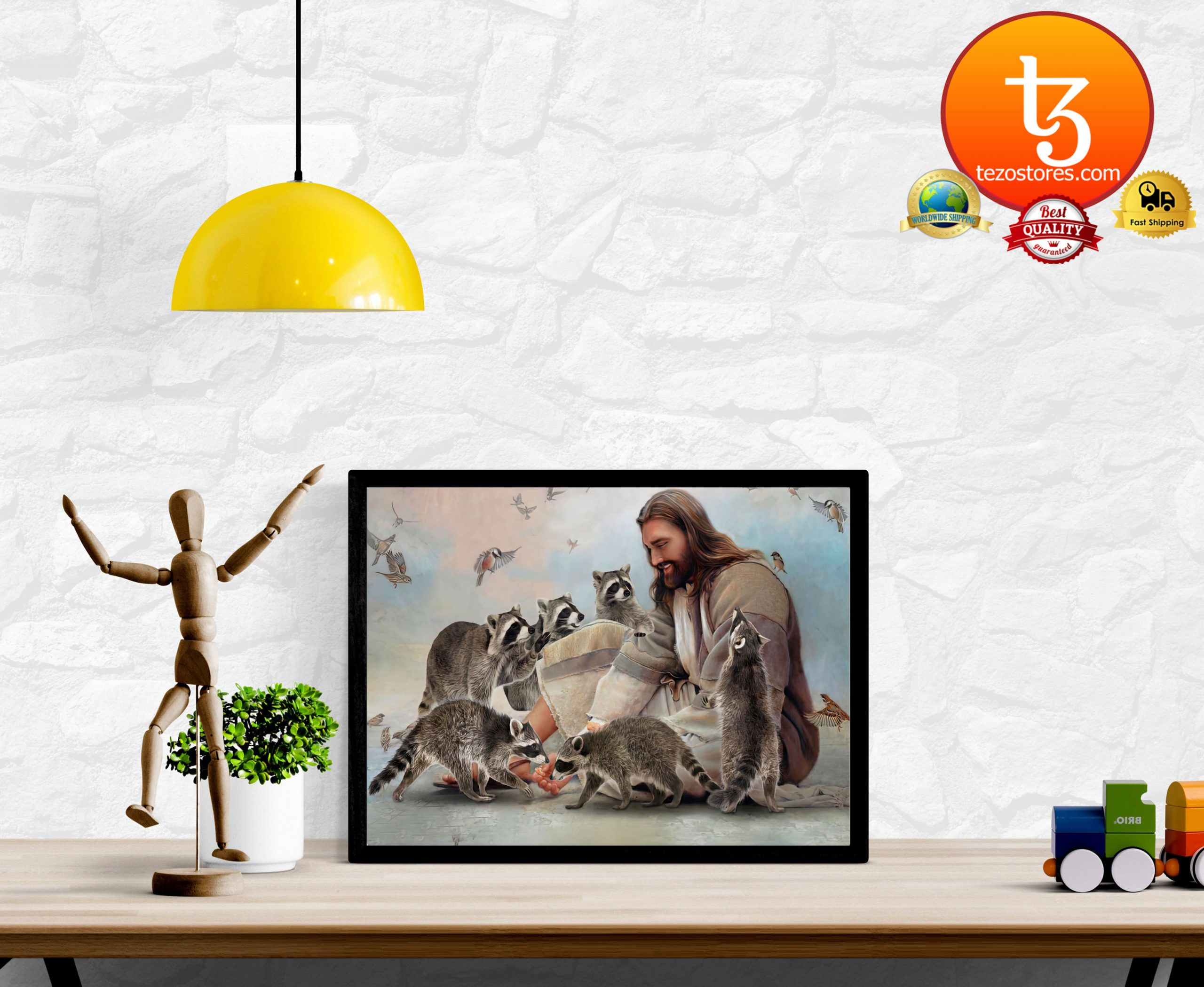 God surrounded by Raccoon Poster2
