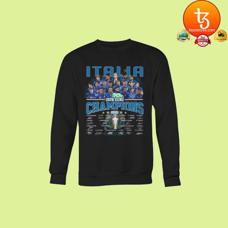 Italia UEFA Euro Champions signatures shirt hoodie3