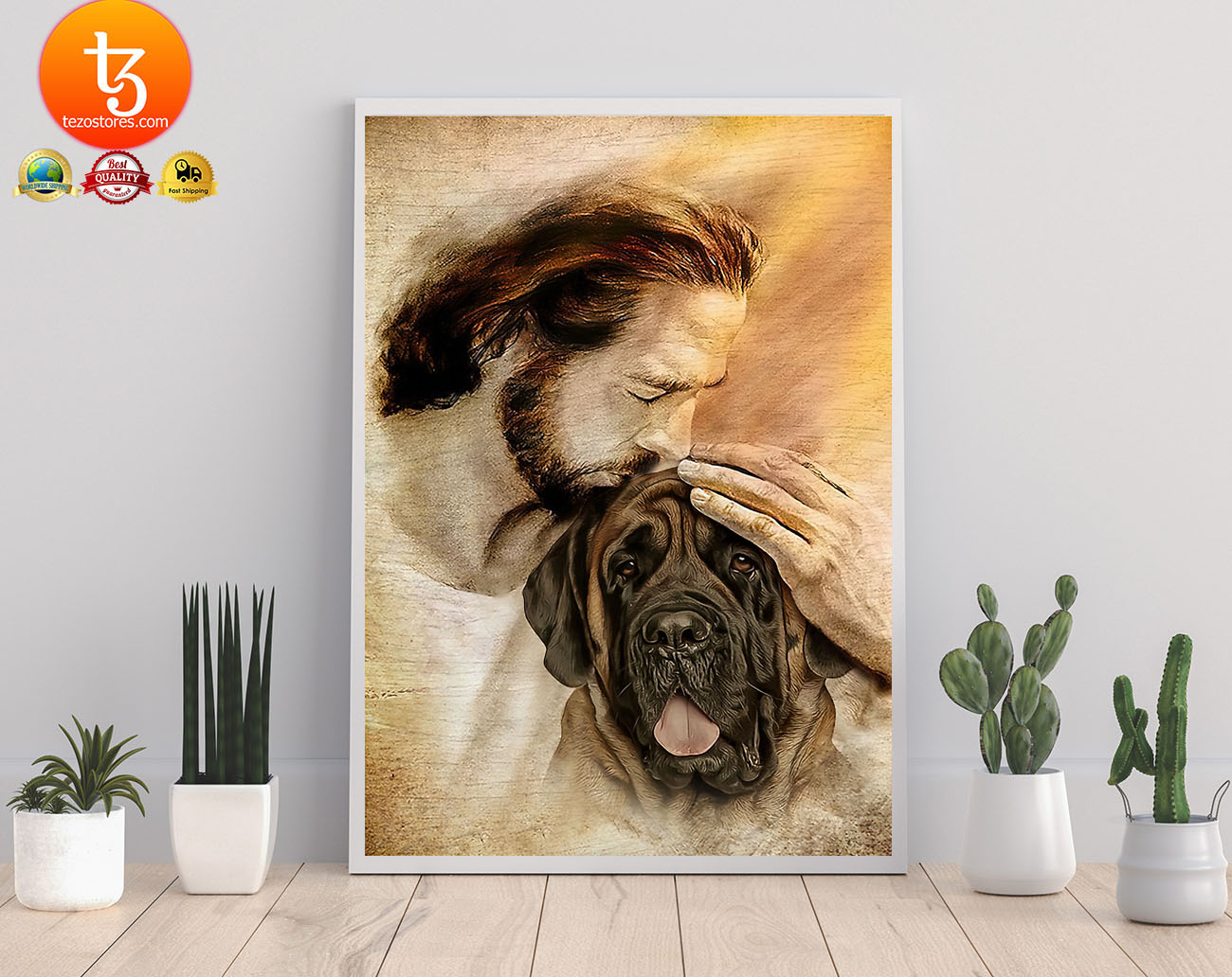 Jesus with English Mastiff poster2