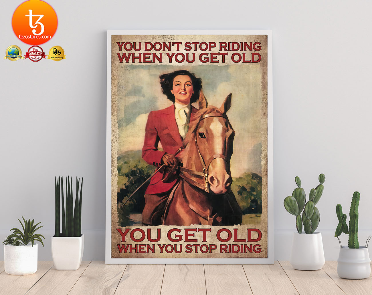 You dont stop riding when you get old poster2
