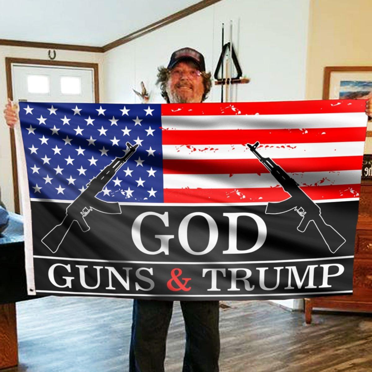 27 God Guns and Trump Flag 2