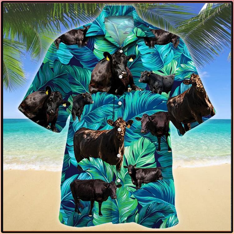 Black Angus Cattle Lovers Hawaiian Shirt1