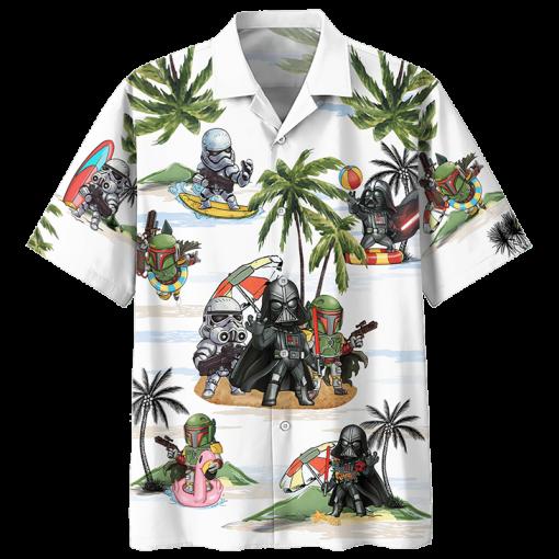 Darth Vader Boba Fett Stormtrooper Summer Time Hawaiian Shirt2 1 510x510 1
