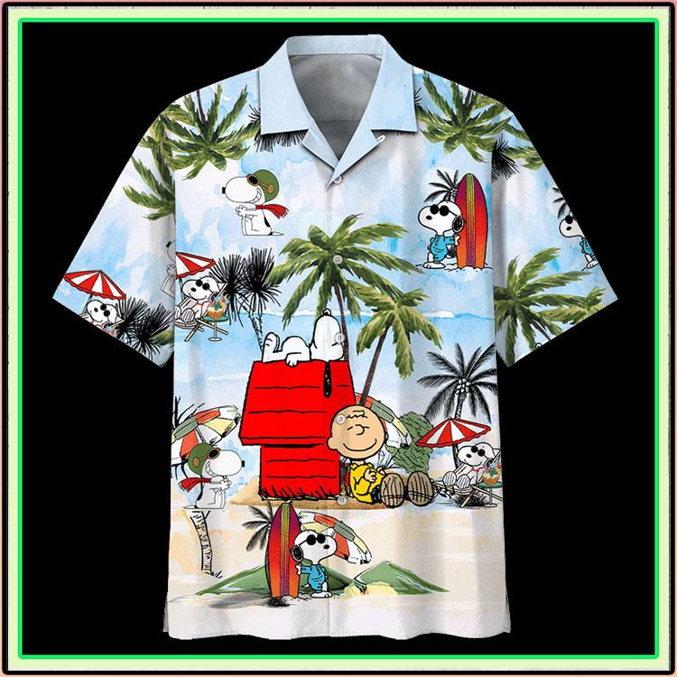 Peanuts snoopy summer time hawaiian shirt3