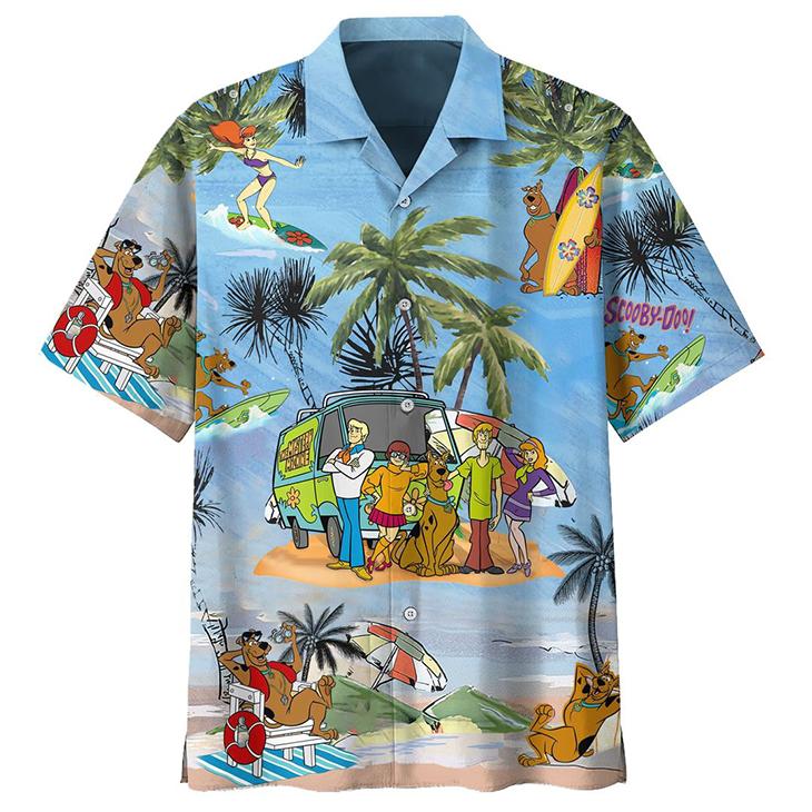 Scooby Doo Summer Vacation Hawaiian Shirt1
