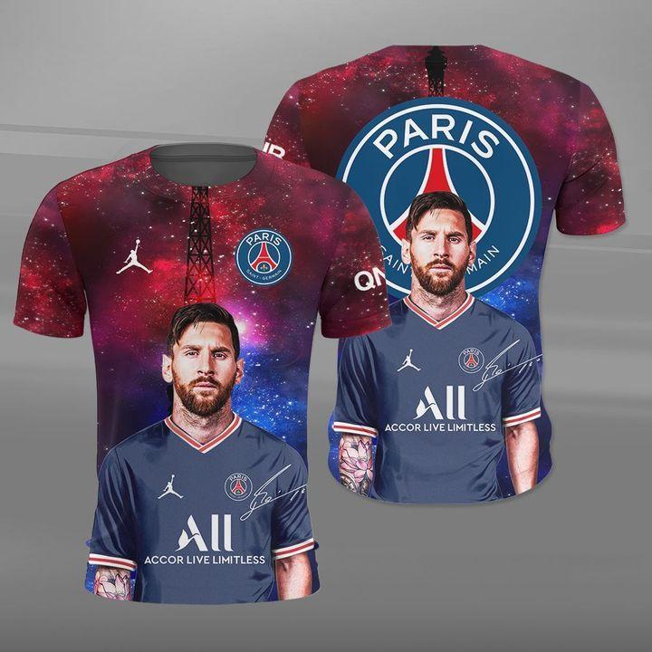 Lionel Messi PSG Paris Saint Germain 3d Hoodie and Shirt18