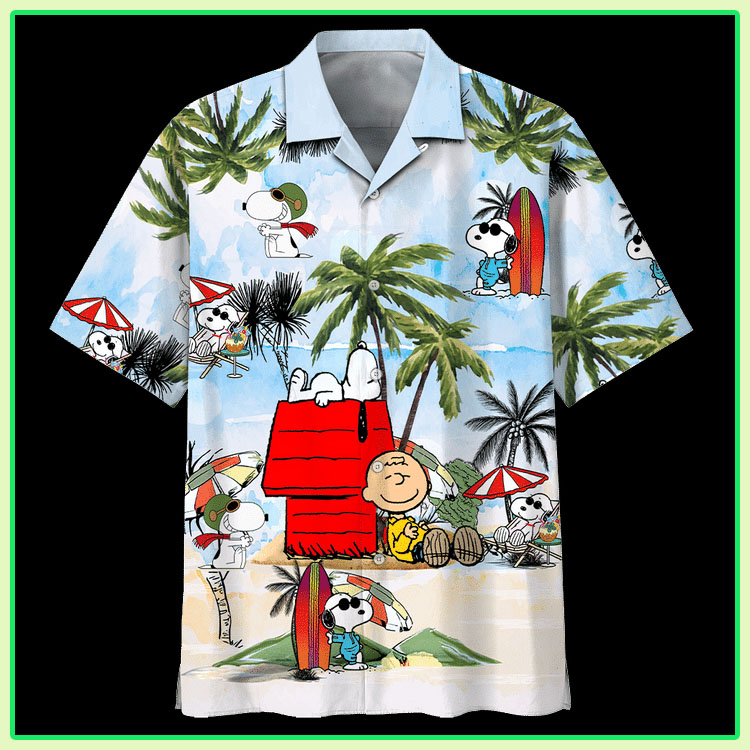 Peanuts snoopy summer time hawaiian shirt