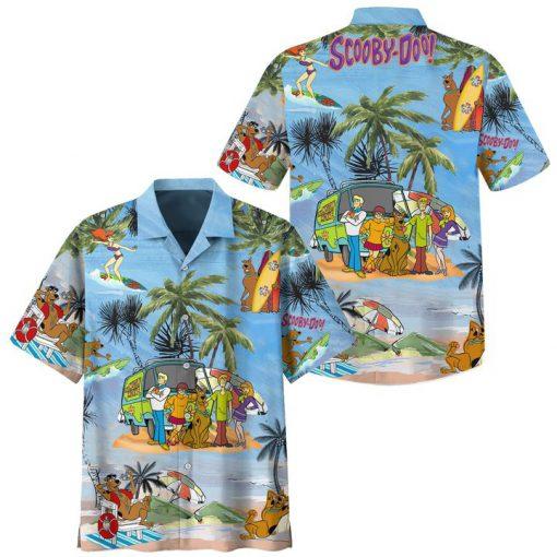 Scooby doo summer vacation hawaiian shirt and beach