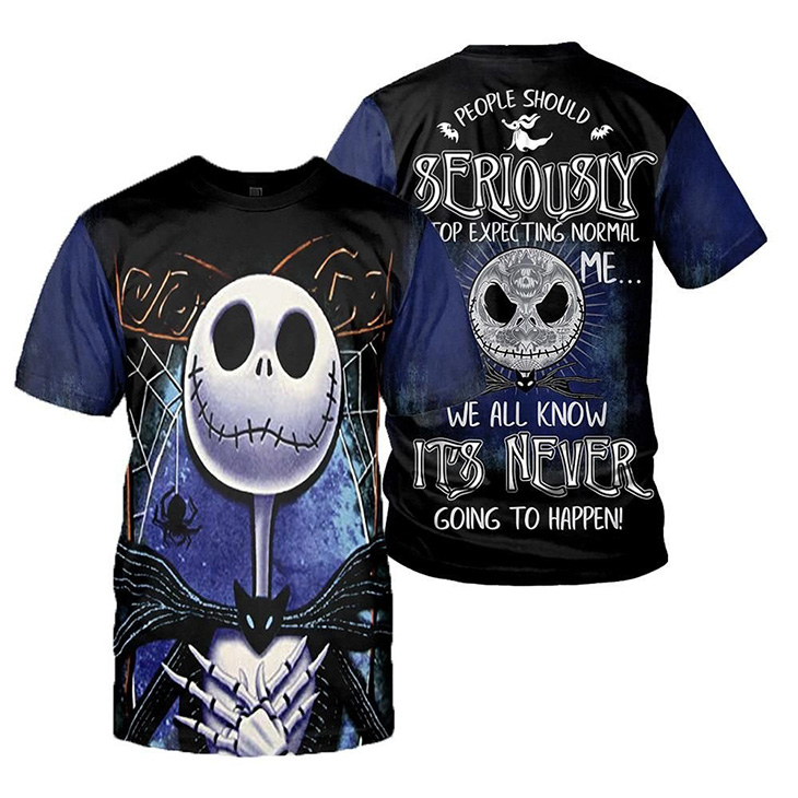 Jack Skellington People Should Seriously Stop Expecting Normal From Me We All Know Its Never Going To Happen 3d Hoodie Shirt1