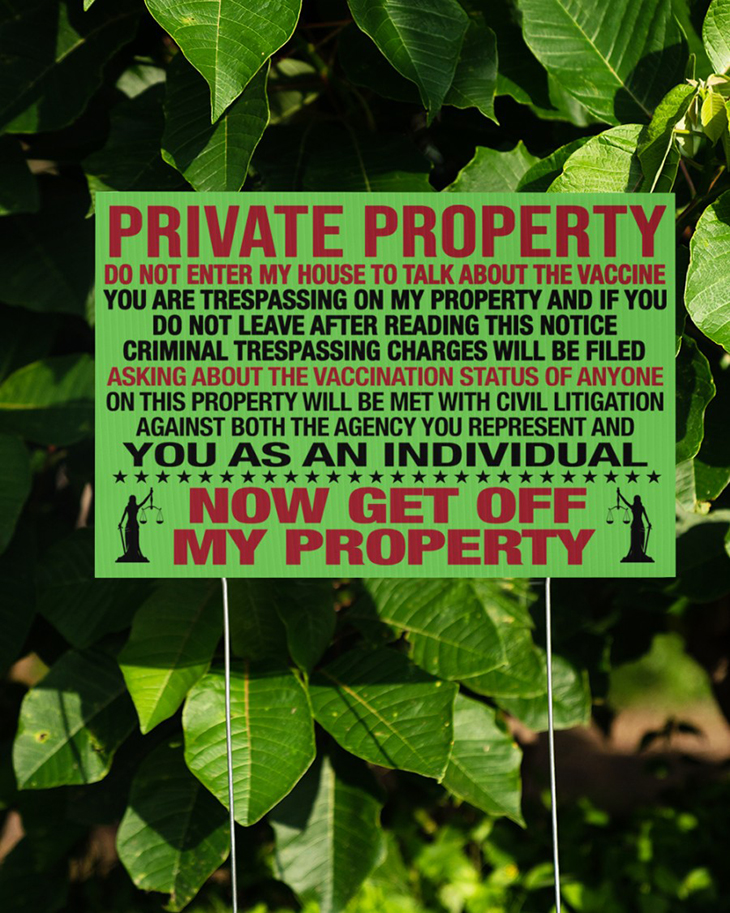 Private Property Do Not Enter My House To Talk About The Vaccine Yard Sign And Doormat15