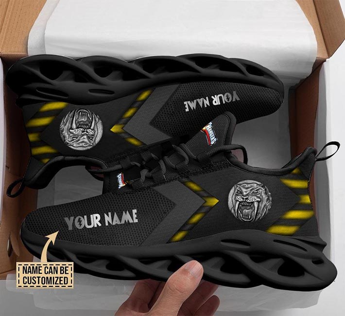 Mighty Morphin Power Rangers Yellow Custom Name Clunky Max Soul Shoes