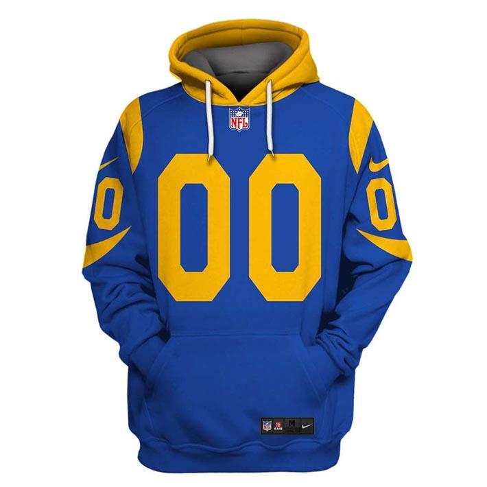 NFL Los Angeles Rams Custom Name And Number 3D Hoodie Shirt