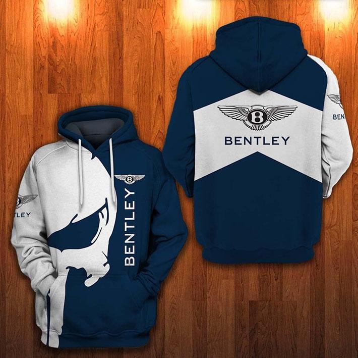 Punisher Skull Bentley Bentley Logo 3D Hoodie