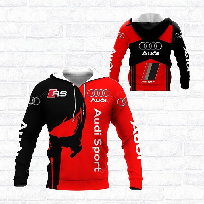 Punisher Skull Audi Sport Rs Logo 3d Hoodie Shirt