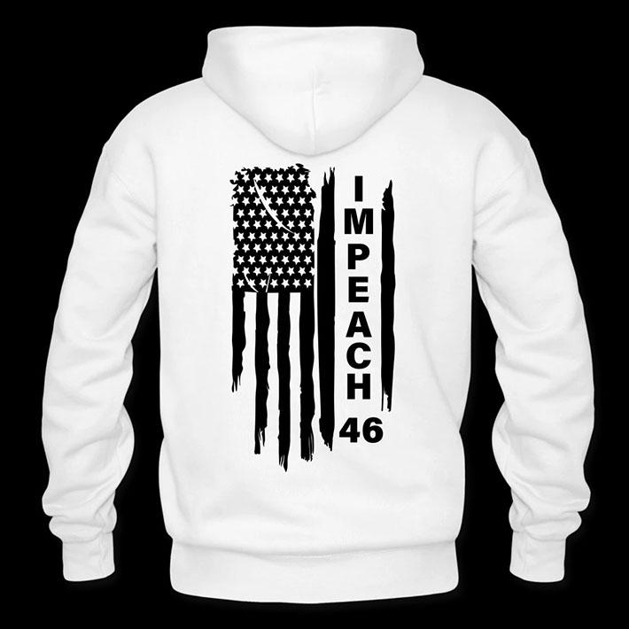 American Flag Impeach 46 Hoodie
