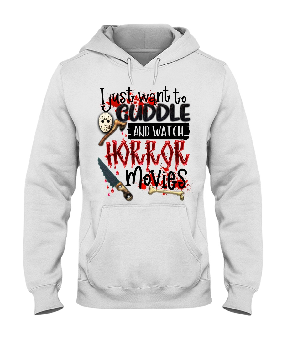 Jason Voorhees I Just Want To Guddle And Watch Horror Movies Shirt, Hoodie