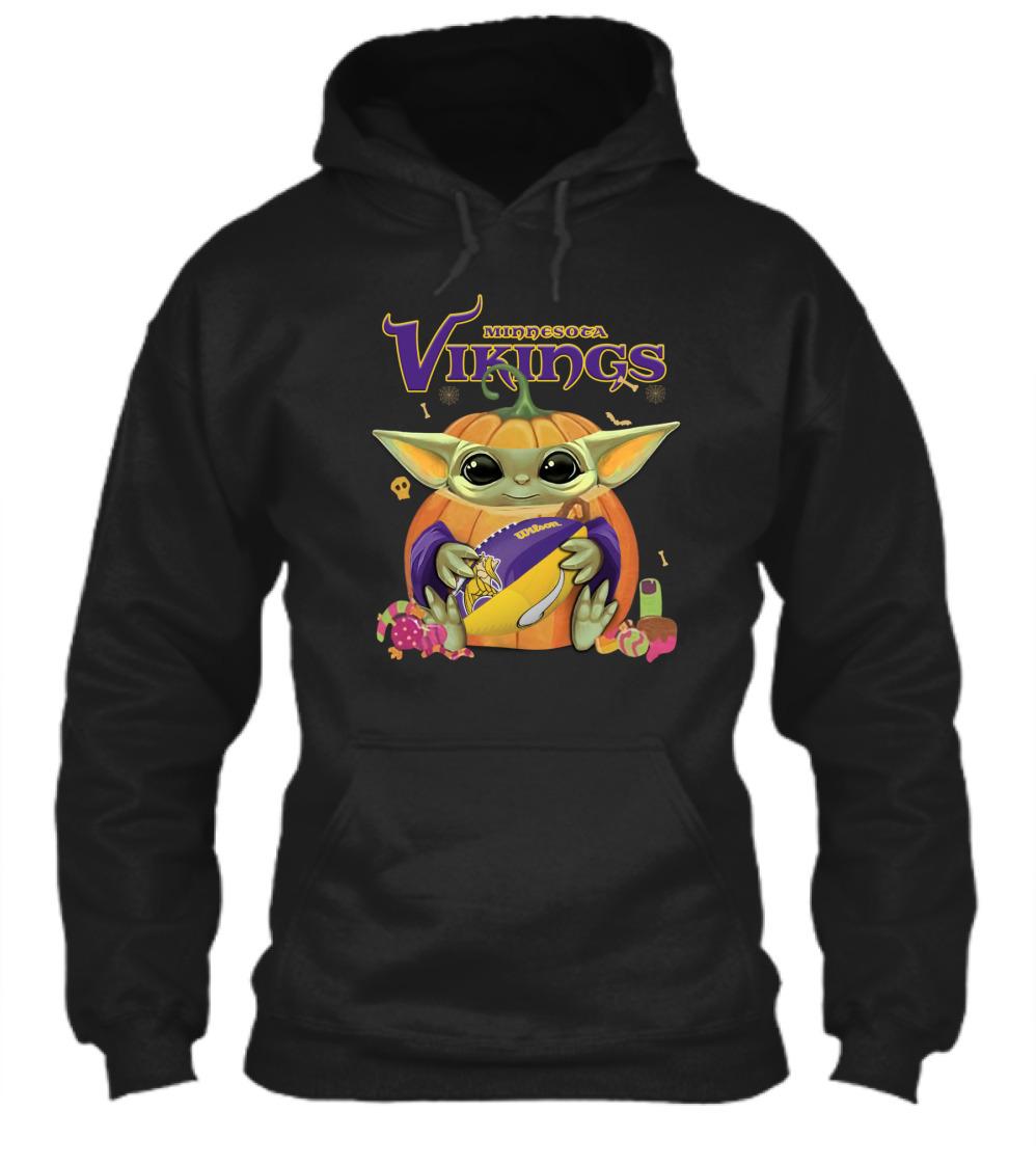 Baby Yoda Pumpkin Minnesota Vikings Shirt Hoodie2