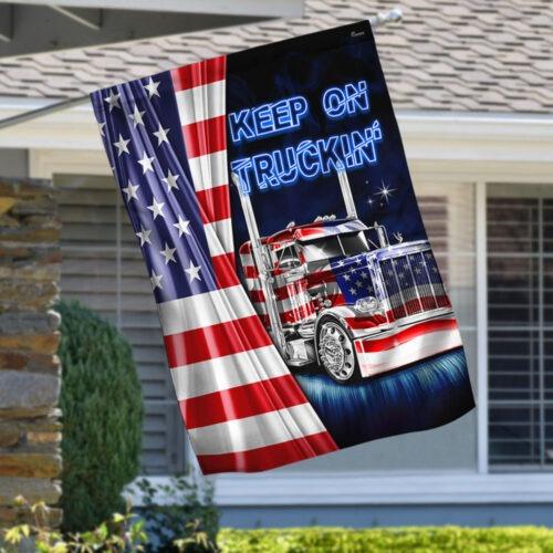 American flag truck Keep On Truckin flag 1