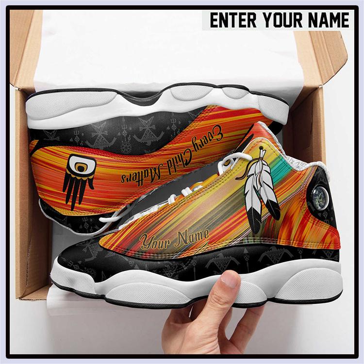 Every Child Matters Custom Name Air Jordan 13 Shoes2