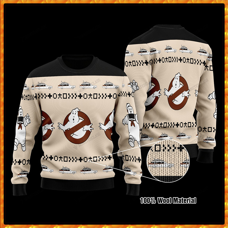 Ghostbusters Happy Halloween Knitted Ugly Christmas Sweater7