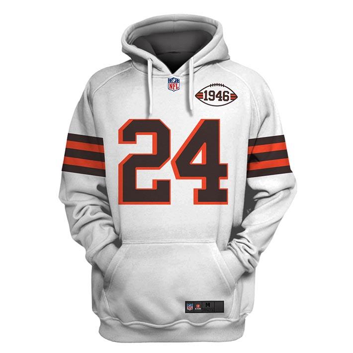 NFL 1946 Nick Chubb Stats 3D Hoodie Shirt