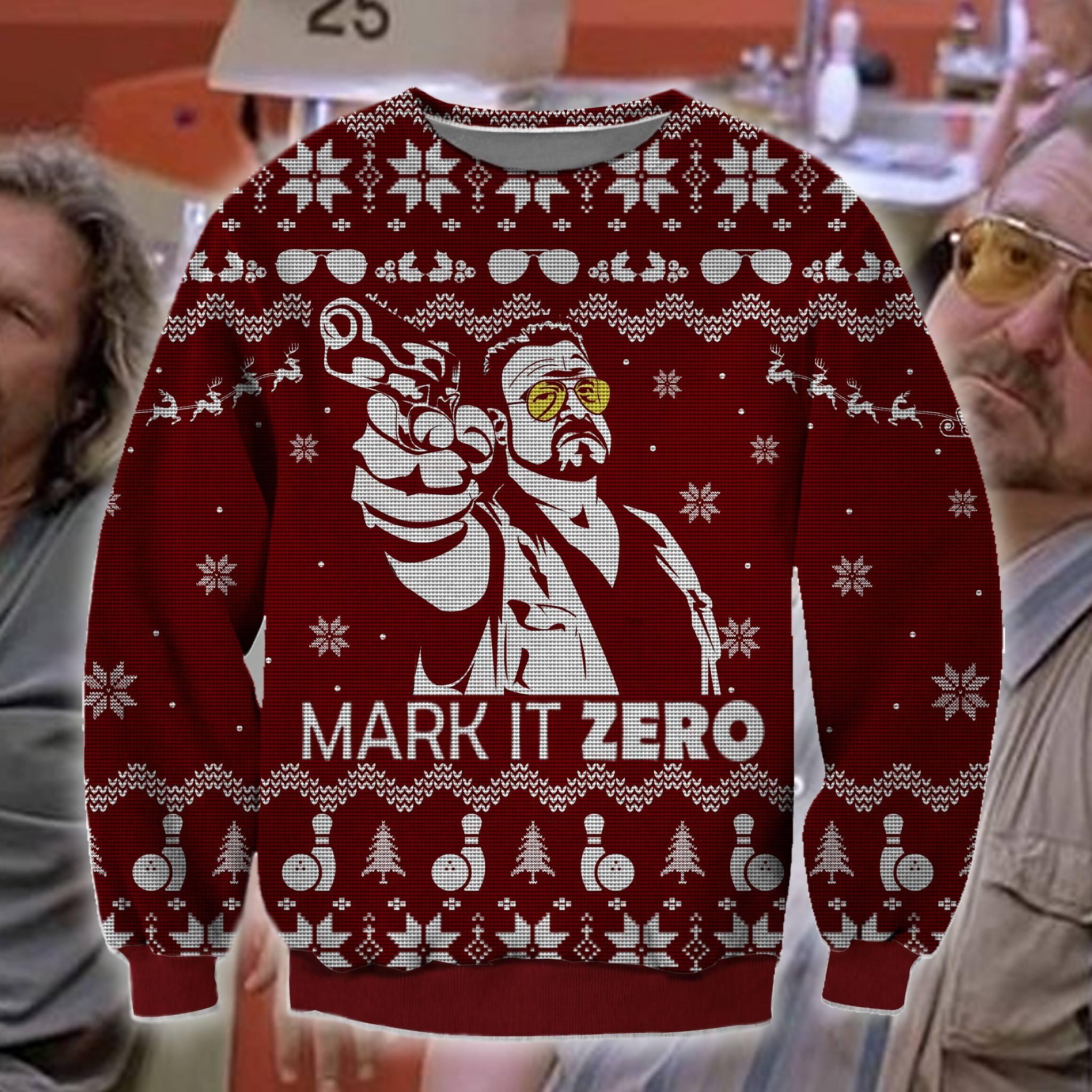 Mark it zero bowling ugly christmas sweater 1
