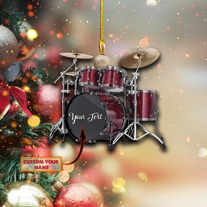 Red drums custom personalized ornament 1