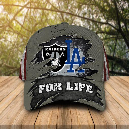 For Life Las Vegas Raiders Los Angeles Dodgers cap hat 1