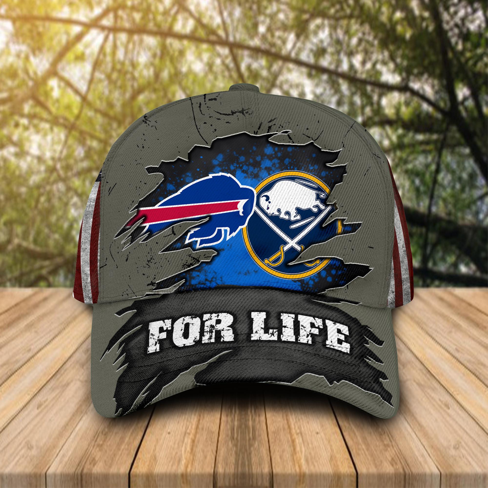 Buffalo Bills Buffalo Sabres For Life cap hat 1