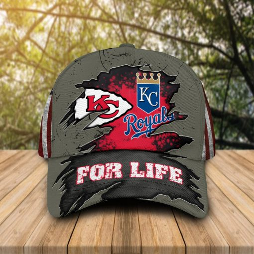 Kansas City Chiefs and Royals for life cap hat 1