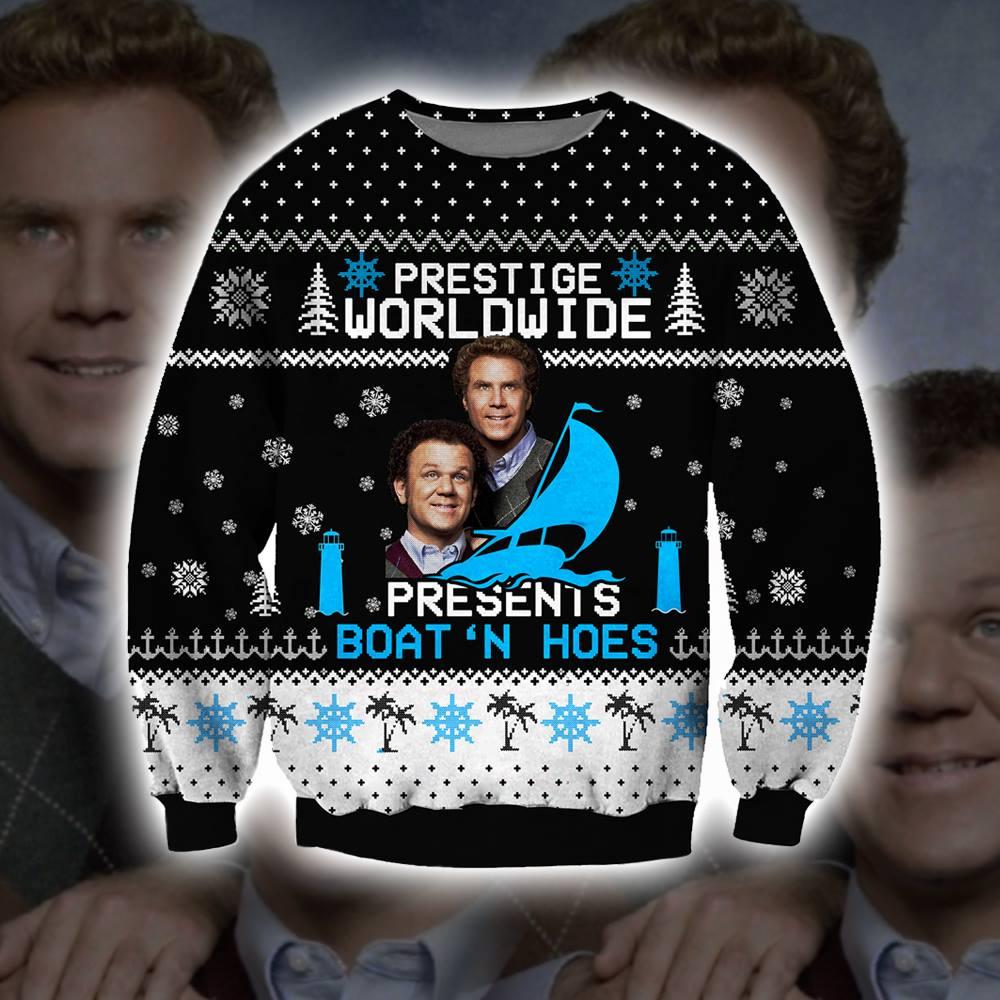 Prestige Worldwide present boatn hoes ugly christmas sweater 1