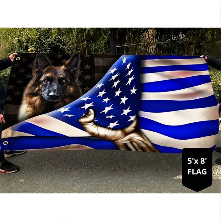 American German Shepherd Flag