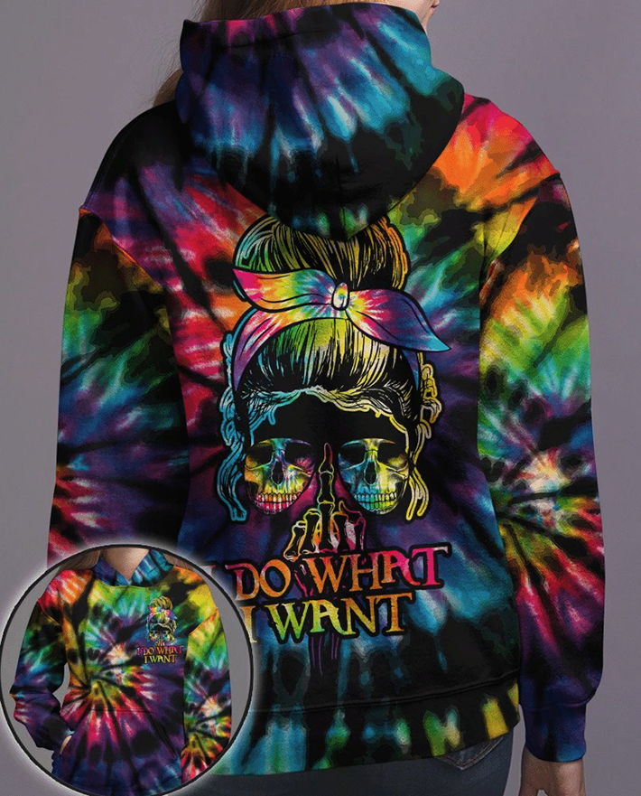 Skull Girl I Do What I Want 3D Hoodie Shirt2