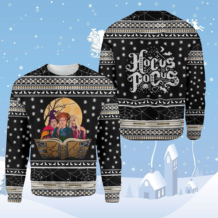 Halloween Witches Hocus Pocus Ugly Christmas Sweatshirt