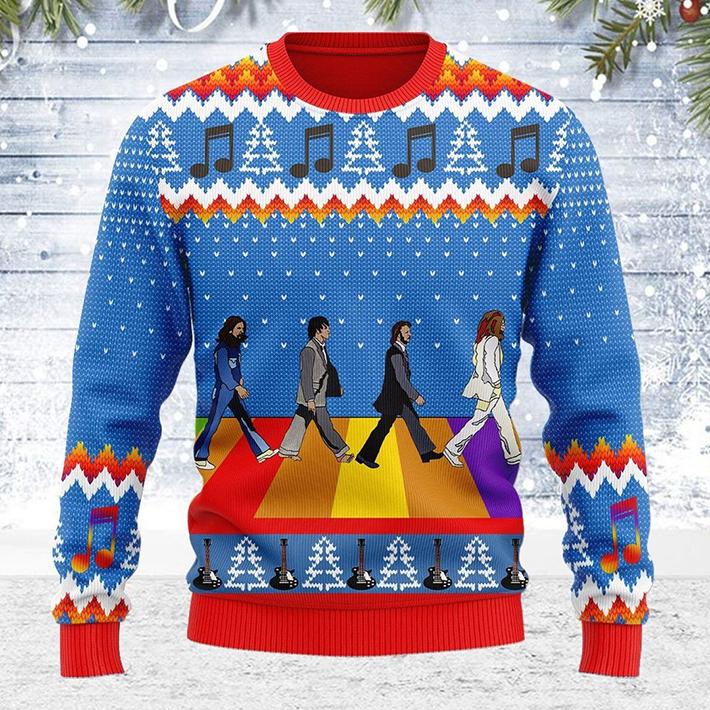 The Beatles Abbey Road Ugly Christmas Sweatshirt