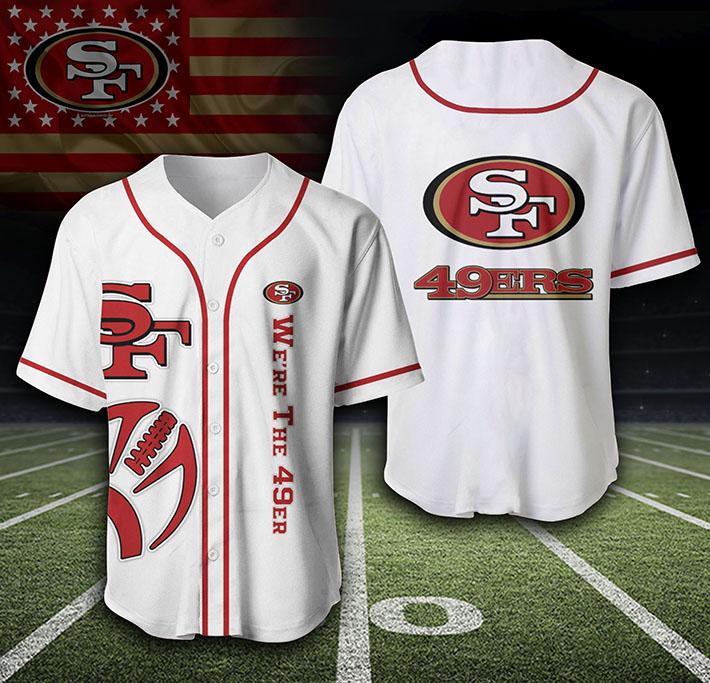 San Francisco 49Ers Logo Baseball Jersey Shirt